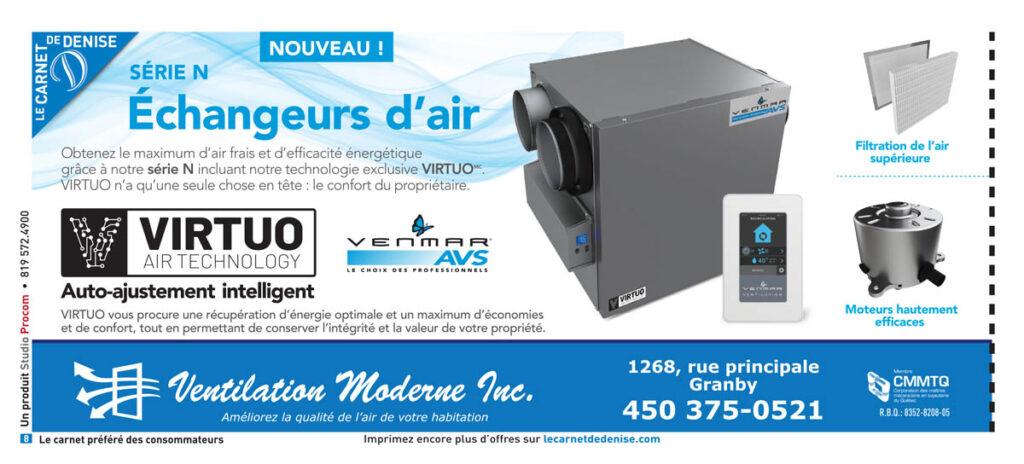 Ventilation Moderne Granby - Échangeurs d'air Venmar